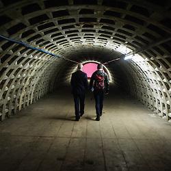 London, UK - 21 February 2014: the Zero Carbon Food - Growing Underground tunnels.