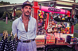 roadside souvenier fireworks salesman vendor