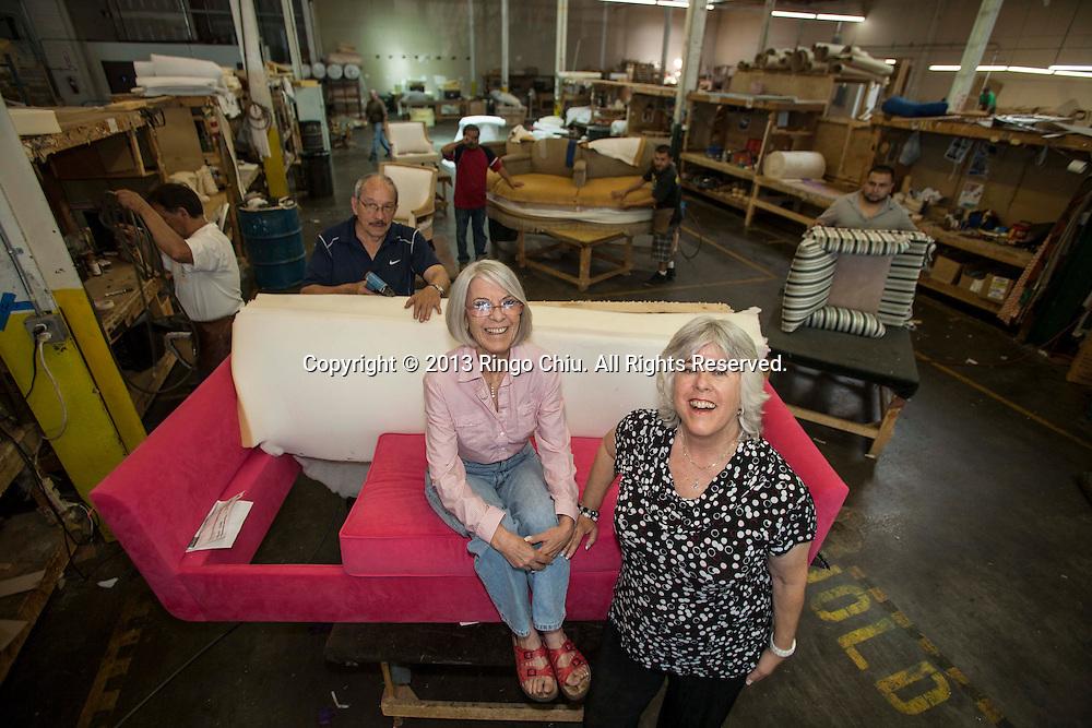 Karen Rosen Hirsch, left, President, and Judy Rosen, Vice President of Republic Furniture in Vernon. (Photo by Ringo Chiu/PHOTOFORMULA.com)