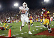 Vince Young scores the winning touchdown during the University of Texas' 41-38 victory over Southern California to win the 2005 national championship.