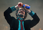 Jarvis Cocker of Pulp performs live on the main stage during day two of the Isle of Wight Festival 2011 at Seaclose Park on June 11, 2011 in Newport, Isle of Wight.  (Photo by Simone Joyner)