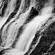 Eureka City Lake.Waterfalls on East side.Eureka, KS.December 26, 2011