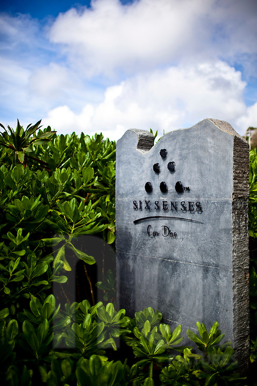 Six Senses resort entrance, Con Dao island, Vietnam, Southeast Asia.