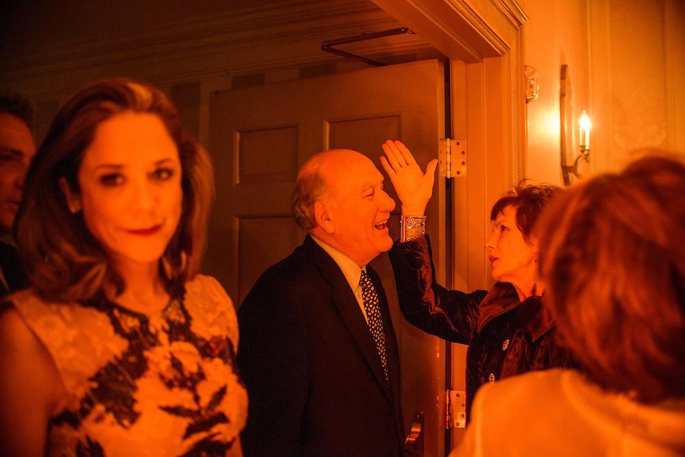 """Photo by Matt Roth.Assignment ID: 10137379A..Lobbyist Heather Podesta, left, enters the Dolley Madison Ballroom and Maureen Orth, Vanity Fair writer, and Tim Russert's widdow, left, talks to a guest at the Buffy and Bill Cafritz, Ann and Vernon Jordan, Vicki and Roger Sant threw an inaugural """"Bi-Partisan Celebration"""" at the Dolley Madison Ballroom at the Madison Hotel in Washington, D.C. on Sunday, January 20, 2013."""