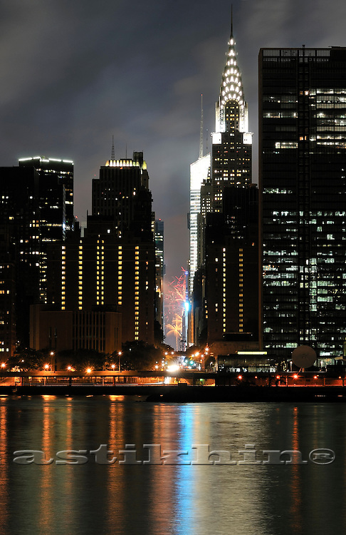 Firework on 42nd Street