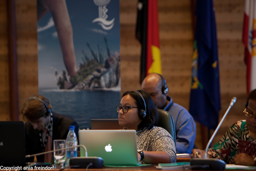 Conference Oceania 21 Climate Change, Noumea, New Caledonia, Soumynie KARTADIWIRJA Press Officer Music Live