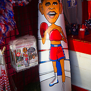 Obama Punching Bag for sell outside of the Republican National Convention, held at the Tampa Convention Center in Tampa, Fla.