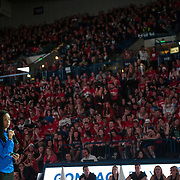 Halftime of Gonzaga Day game vs. Memphis Jan. 31. (Gonzaga photo/ Austin Ilg)