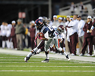 Ole Miss wide receiver Ja-Mes Logan (85) makes a catch vs. Texas A&M defensive back Tramain Jacobs (7) in Oxford, Miss. on Saturday, October 6, 2012. Texas A&M won 30-27...