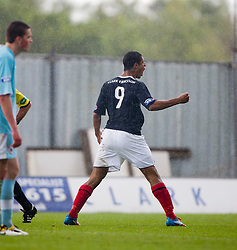 Falkirk's Lyle Taylor celebrates after scoring their third goal..Falkirk 3 v 0 Stirling Albion, Ramsdens Cup..© Michael Schofield.