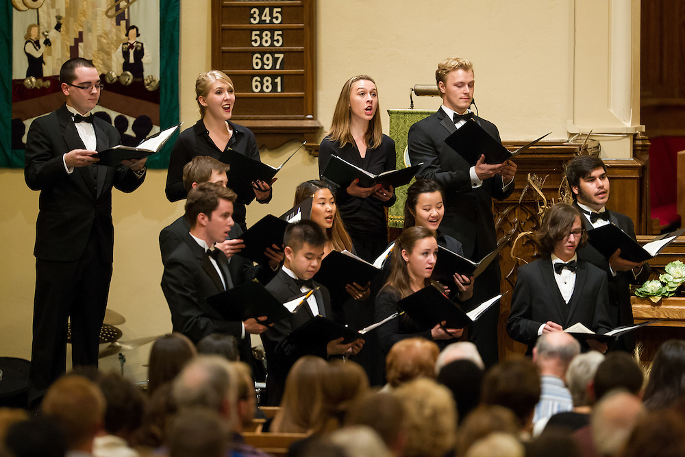 Western's Don Wright School of Music Choral Celebration at First-St. Andrew's United Church in London Ontario, Saturday,  October 24, 2015.<br /> Western University/ Geoff Robins