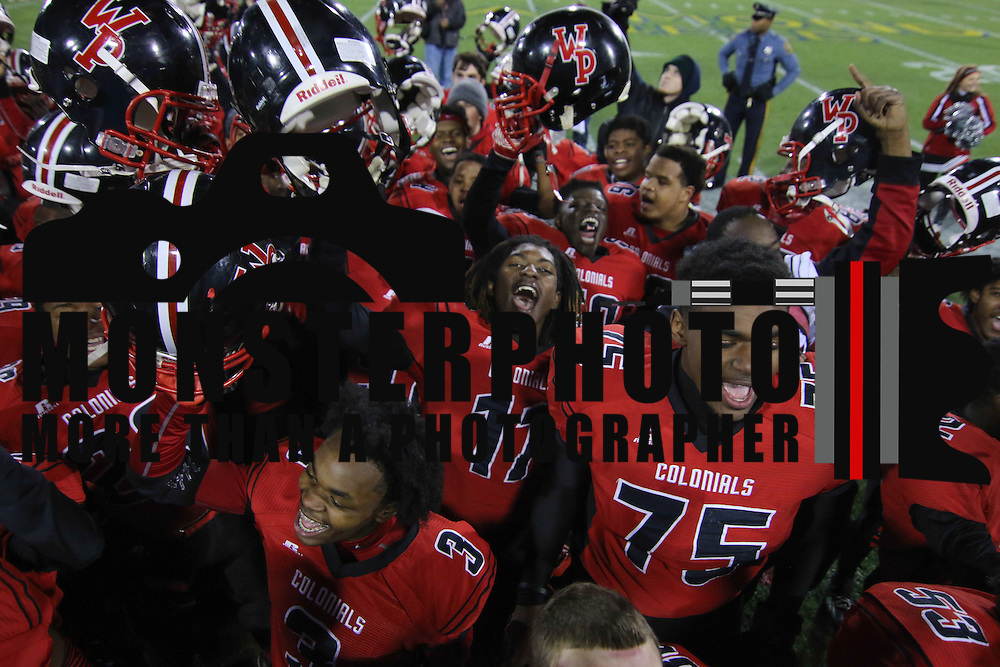William Penn players celebrates DIAA State Championship after William Penn defeated Middletown 42-14 Saturday, Nov. 29 2014, at Delaware Stadium in Newark Delaware.