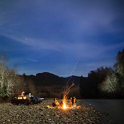 Van camping, Olympic Peninsula, WA.
