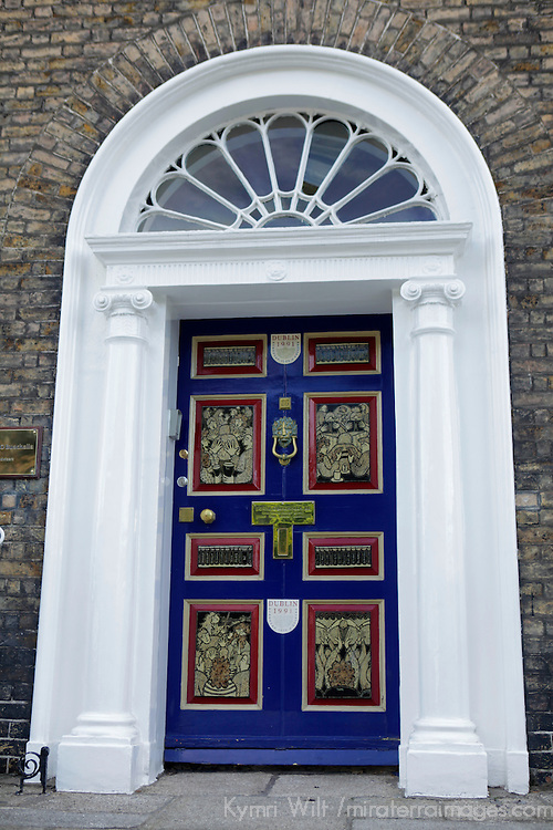 Europe, Ireland, Dublin. Distinctive doorway of Dublin's Fitzwilliam Square neighborhood.