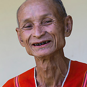 Chiang Mai; Elderly man; Hill Tribe Village; People; Thailand; The Karen; Traditional dress