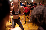 New York, NY - July 05, 2013 : Marcel Owens, 10, left, Luke Spring, 10, center, and Lauren Simmons, 10, right, dances during the Mini Jazz Class at the New York City Dance Alliance National Summer Workshop held at the Sheraton New York Times Square Hotel in New York, NY on  July 05, 2013. Luke Spring, a dance prodigy from Studio Bleu Dance Center in Ashburn, VA, has performed on the Tonys, Ellen, So You Think You Can Dance and The Ford Gala. His sisters Cami Spring, 20, and Lucy Spring, 18, are both award winning dancers. (Photo by Melanie Burford/Prime for The Washington Post)