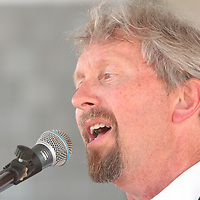 Bert Linton of Blivet performs Sunday July 13, 2014 during Boogie in the Park at Kure Beach, N.C. (Jason A. Frizzelle)