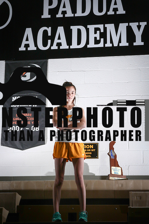 Athlete of the Year Cross Country Champion Lydia Olivere Friday, Dec. 16, 2016, at Padua Academy in Wilmington Delaware.