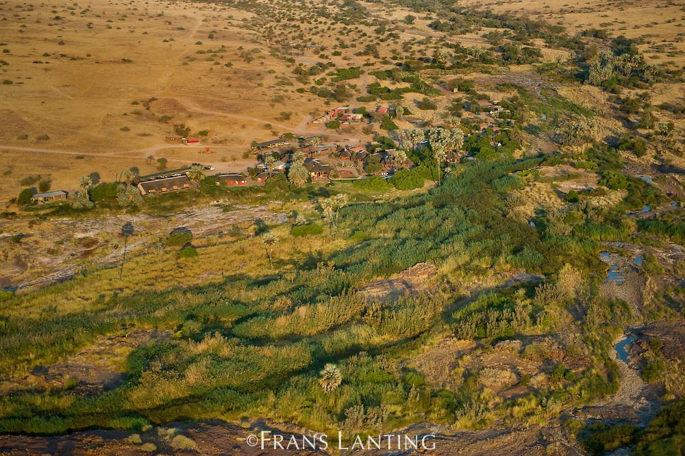 Palmwag, (aerial), Torra Conservancy, Damaraland, Namibia