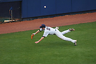 Ole Miss' Matt Tracy (29) is unable to catch a ball off the bat of Arkansas State's Jordan Castaldo at Oxford University Stadium in Oxford, Miss. on Wednesday, February 23, 2011.