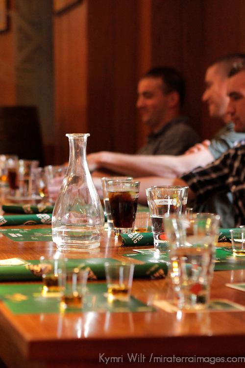 Europe, Ireland, Dublin. Whiskey tasting at Old Jameson Distillery.