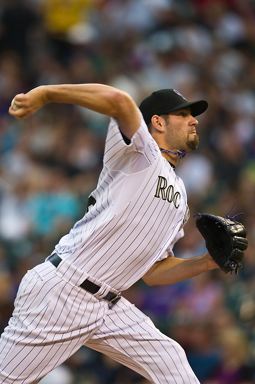 Rockies starter Jason Hammel against NY Mets, 2nd game of 3 game match-up.