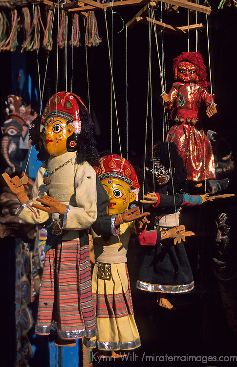 Asia, Nepal. Puppets