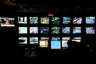 Inside Westminster's CCTV Control Centre under Piccadilly Circus in London's West End. UK.
