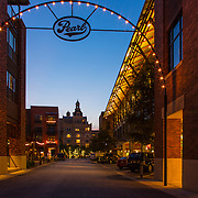 The grounds of the old Pearl Brewery in San Antonio have been revitalized.  Today restaurants, shops, apartments, and offices are in the former brewery buildings.