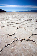 A photo of the Badwater salt plain in Death Valley
