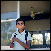 "An Ikootz student in San Mateo, a town feuding with Santa Maria, a town which has agreed to permit the construction of wind farms on disputed territory...The Isthmus of Tehuantapec, long a center for indigenous land ownership, is now embroiled in a land dispute over wind farm land...Called ""Mexico's little waist,"" the Isthmus is a wind tunnel that links the Gulf of Mexico to the Pacific through mountain passes at the narrowest part of Mexico. The geographical funnel makes it one of the windiest places in North America and for a decade wind energy companies have been jostling to acquire land to power the likes of Coca-Cola and Wal Mart."