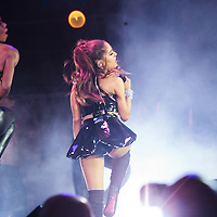 Ariana Grande performs at the NYC Pride's 29th Annual Dance at Pier 26 on June 28th, 2015 in New York City, New York.