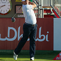 19.01.2013 Abu Dhabi, United Arab Emirates.  Graeme Storm in action during the European Tour HSBC Golf championship  third round from the Abu Dhabi Golf Club.
