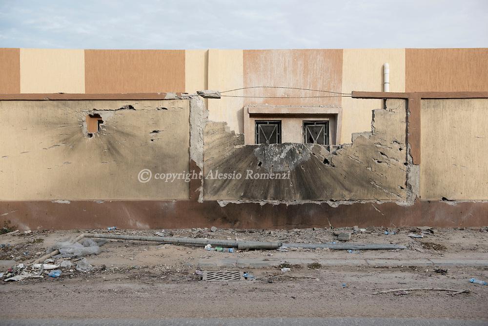 Libya, Sirte: Destruction in central Sirte on November 24, 2016.  Alessio Romenzi