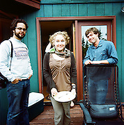EAGLE RIVER, AK - 2008: Photographers Loren Holmes, Beth Skabar and Joshua Corbett.