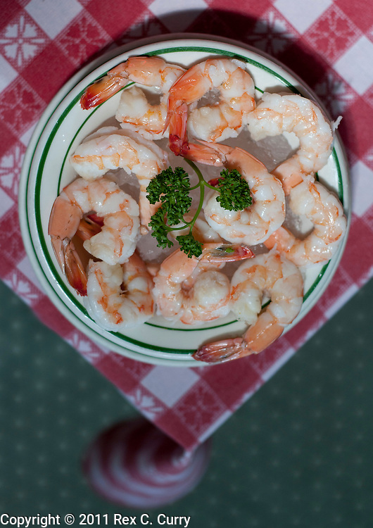 Boiled Shrimp at  S&D Oyster Company in Dallas, Texas..Photo by Rex C. Curry....