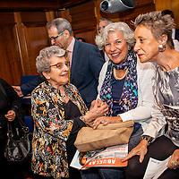"The Ambassador of Argentina, Alicia Castro and Delia Giovanola, founding of ""Grandmothers of Plaza de Mayo"" -Abuelas de Plaza de Mayo during the screening ""Blood Siblings"" -Hermanos de Sangre- at the Embassy of Argentina. London. Sep. 30, 2015. (Photos/Ivan Gonzalez)"