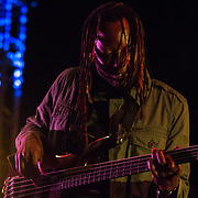 """Isaiah """"Zai"""" Palmer from the Reggae band i-KRONIK performs on stage during The 19th Annual Bob Marley People's Festival Saturday July 27, 2013, at Tubman-Garrett Riverfront Park in Wilmington Delaware."""
