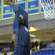 Delaware 87ers Forward Thanasis Antetokounmpo (19) dunks during warm ups prior to a NBA D-league regular season basketball game between Delaware 87ers and Idaho Stampede Thursday, Dec. 12, 2013 at The Bob Carpenter Sports Convocation Center, Newark, DE