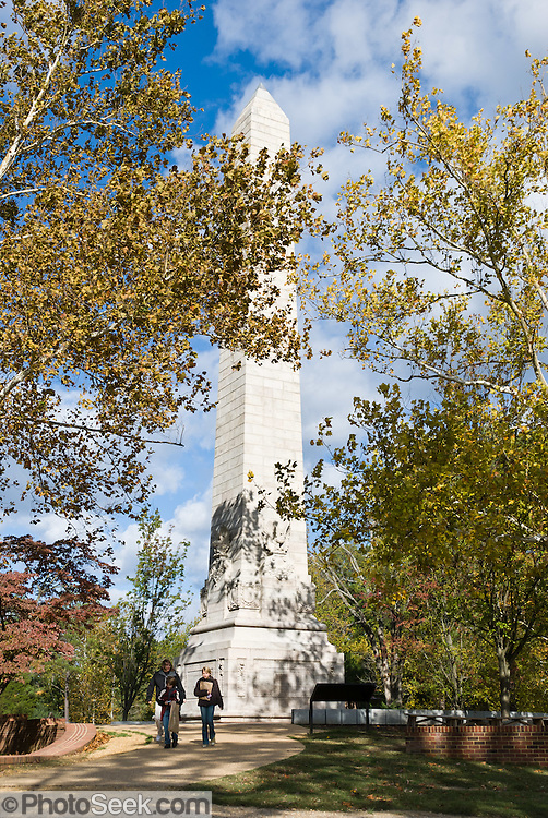 "Jamestown Tercentennial Monument was built in 1907 to celebrate the 300th anniversary of the landing at Jamestown. The 103-foot tall obelisk is engraved as follows: .VIRGINIA COMPANY OF LONDON CHARTERED APRIL 10, 1606 FOUNDED JAMESTOWN AND SUSTAINED VIRGINIA 1607-1624. .THIS MONUMENT WAS ERECTED BY THE UNITED STATES A.D. 1907 TO COMMEMORATE THE THREE HUNDREDTH ANNIVERSARY OF THE SETTLEMENT HERE. .JAMESTOWN THE FIRST PERMANENT COLONY OF THE ENGLISH PEOPLE THE BIRTHPLACE OF VIRGINIA AND OF THE UNITED STATES MAY 13, 1607. .""LASTLY AND CHIEFLY THE WAY TO PROSPER AND ACHIEVE GOOD SUCCESS IS TO MAKE YOURSELVES ALL OF ONE MIND FOR THE GOOD OF YOUR COUNTRY AND YOUR OWN, AND TO SERVE AND FEAR GOD THE GIVER OF ALL GOODNESS. FOR EVERY PLANTATION WHICH OUR HEAVENLY FATHER HATH NOT PLANTED SHALL BE ROOTED OUT."" ADVICE OF LONDON COUNCIL FOR VIRGINIA TO THE COLONY - 1606. .REPRESENTATIVE GOVERNMENT IN AMERICA BEGAN IN THE FIRST HOUSE OF BURGESSES ASSEMBLED HERE JULY 30, 1619."