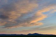 Sunset in the Blackfoot Valley, Montana