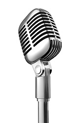 50's microphone on white