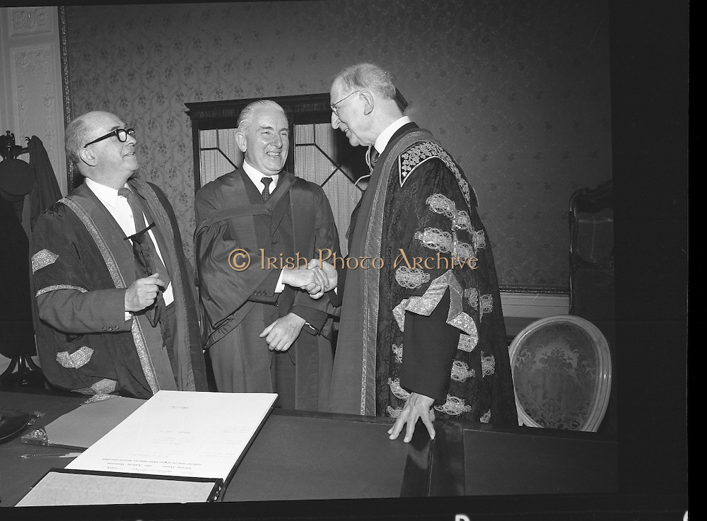 Honorary Degrees at National University of Ireland (NUI).22/04/1970