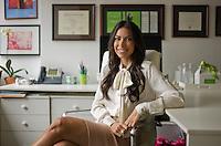 Nutritionist Tanya Zuckerbrot in her New York office.<br /> <br /> Photo &copy; Robert Caplin