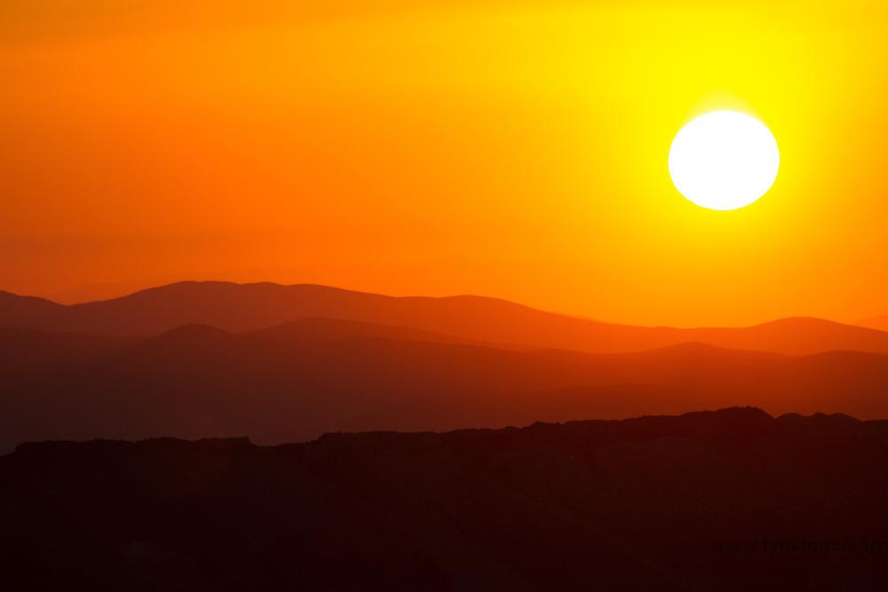 Sunset over the Atacama desert, Chile