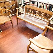 Palermo 2010 - Casa editrice Enzo Sellerio, sala d'aspetto e show room. Particolare degli arredi.