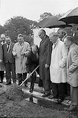 1965 - Cutting first sod for the Irish-Swiss Institute of Horology, Blanchardstown