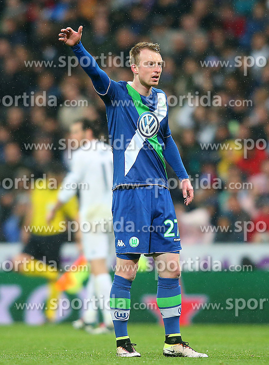 12.04.2016, Estadio Santiago Bernabeu, Madrid, ESP, UEFA CL, Real Madrid vs VfL Wolfsburg, Viertelfinale, Rueckspiel, im Bild WfL Wolfsburg's Maximilian Arnold // during the UEFA Champions League Quaterfinal, 2nd Leg match between Real Madrid and VfL Wolfsburg at the Estadio Santiago Bernabeu in Madrid, Spain on 2016/04/12. EXPA Pictures &copy; 2016, PhotoCredit: EXPA/ Alterphotos/ Acero<br /> <br /> *****ATTENTION - OUT of ESP, SUI*****