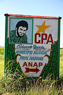 Sign in Bejucal, Mayabeque, Cuba.