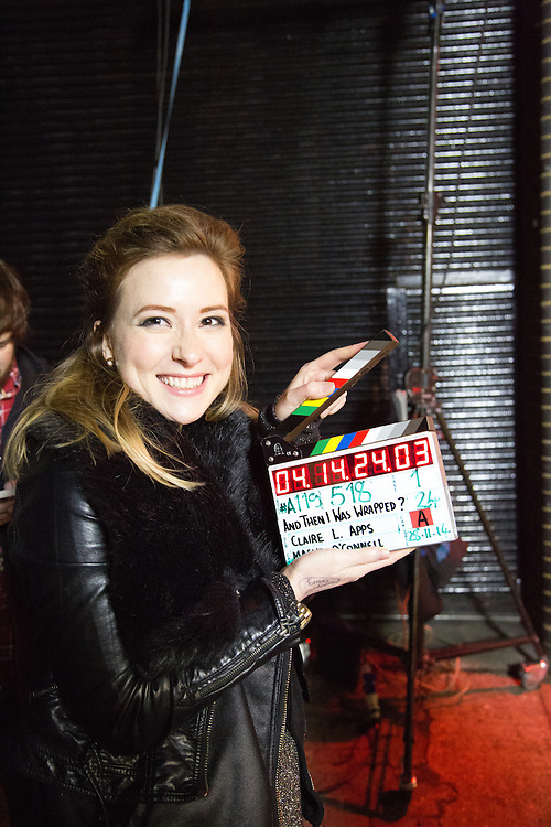 On set Behind-the-Scenes stills of Claire Leona Apps' directorial debut 'And Then I Was French'.